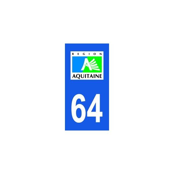 Autocollant Aquitaine 64 Pyrénées Atlantiques