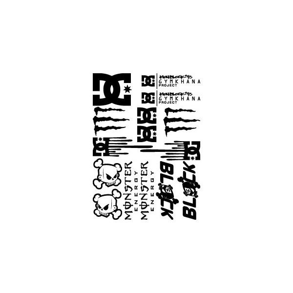 Stickers Maxi kit spécial Ken Block - DC - Monster Energy