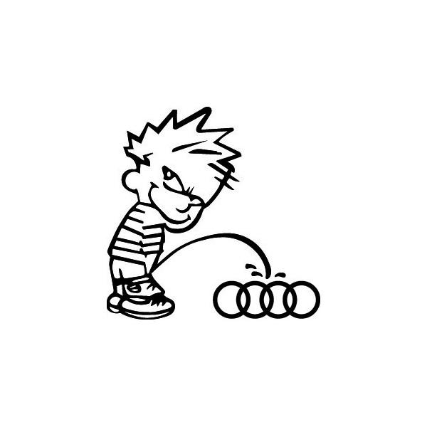 Stickers Bad boy fait pipi sur Audi
