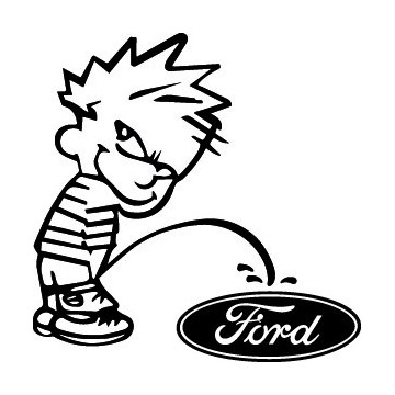 Stickers Bad boy Calvin pee on Ford