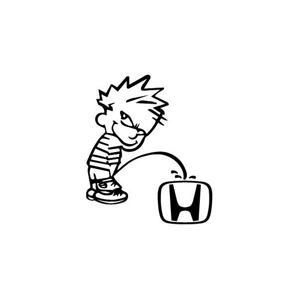 Stickers Bad boy fait pipi sur Honda