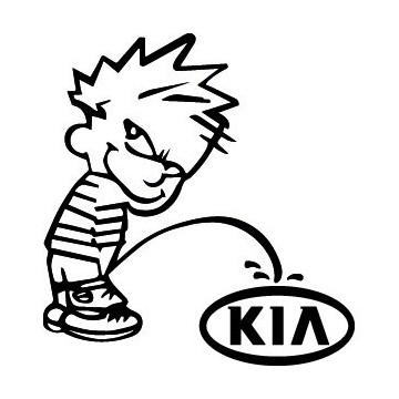 Decals Bad boy Calvin pee on Kia