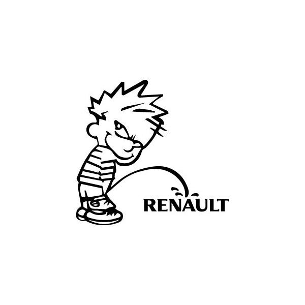 Stickers Bad boy fait pipi sur Renault