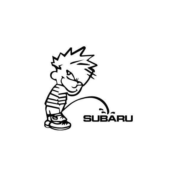 Stickers Bad boy fait pipi sur Subaru