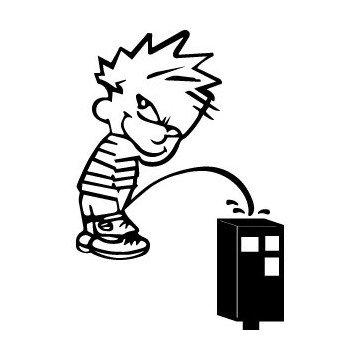 Decals Bad boy Calvin pee on speed radar
