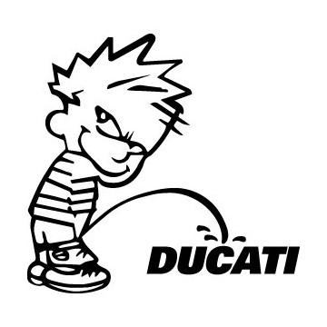 Stickers Bad boy Calvin pee on Ducati