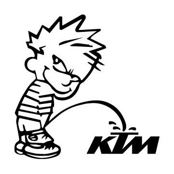Stickers Bad boy Calvin pee on KTM
