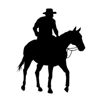 Autocollant Cheval Cowboys