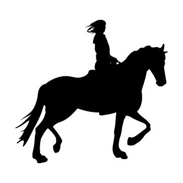 Decals Horse & Cowgirl
