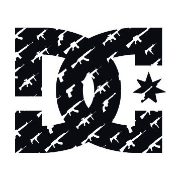 Decals DC Shoes Guns