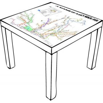 New York Subway Map Ikea Table