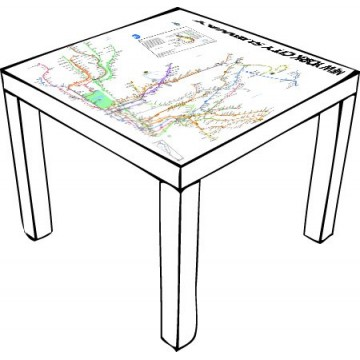 New York Subway Table Ikea