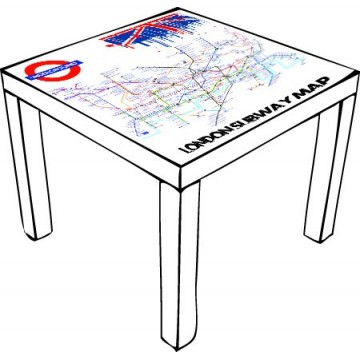 Londres Subway Table Ikea