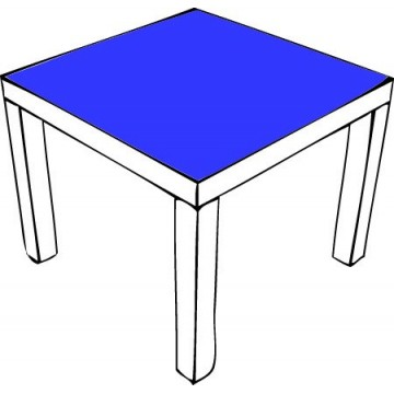 Unicolor decals Ikea Table