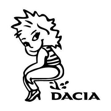 Bad girl pee on Dacia