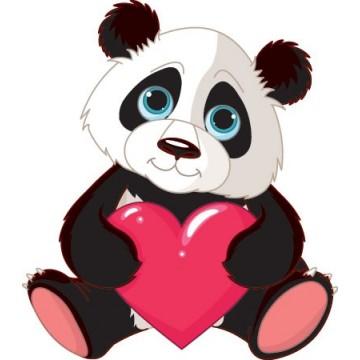 Le panda + Coeur
