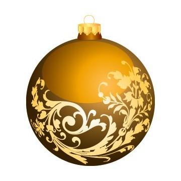 Boule de Noël Jaune