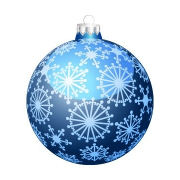 Boule de Noël Bleu