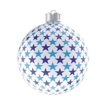 Christmas Ball Blue Stars
