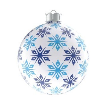Boule de Noël Flocons de...