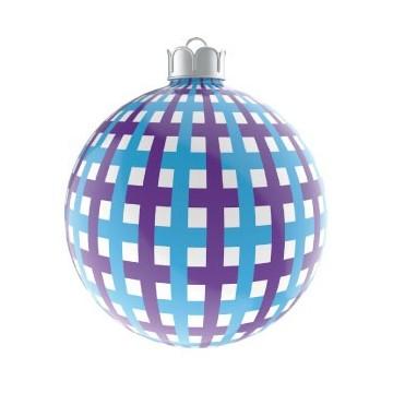 Boule de Noël Traits Bleu &...