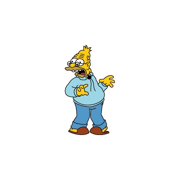 Passion Stickers Grandpa Abraham Simpson From The Simpsons Decals