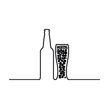 Beer & Glass Silhouette