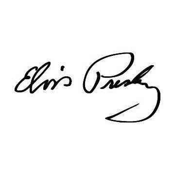 Elvis Presley Signature