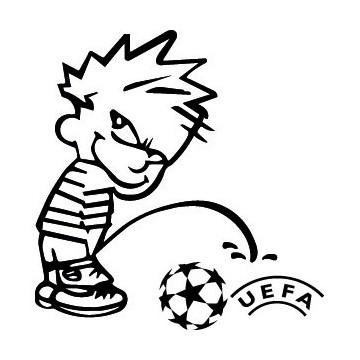 Bad boy Calvin pee on UEFA