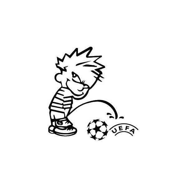 Passion Stickers - Decals Bad Boy Calvin Pee On UEFA Stickers Cars