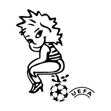 Bad girl pee on UEFA