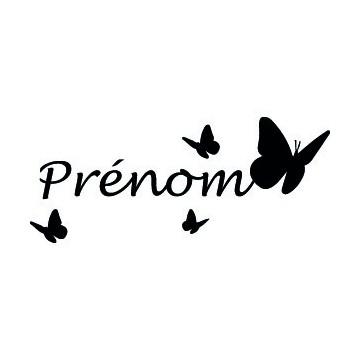 Papillons + Prénom...