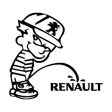 Bad boy Peugeot pee on Renault