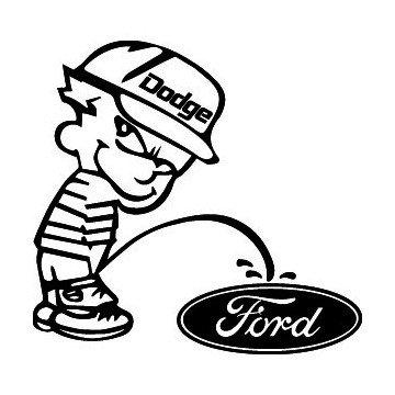 Bad boy Dodge pee on Ford