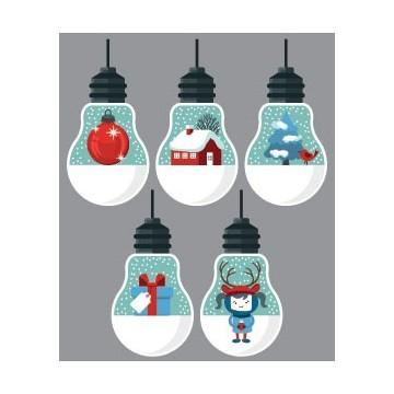 Kit 5 Boules de Noël