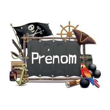 Logo Pirates prénom...