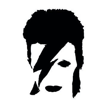 David Bowie Tête Eclair