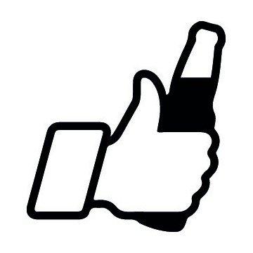 Pouce Facebook Biere