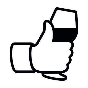Pouce Facebook Vin