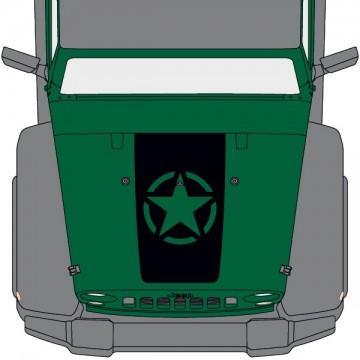 Jeep Wrangler Hood Military...