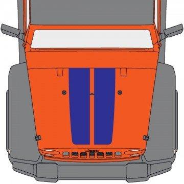 Capot Jeep 2 Bandes