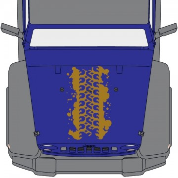 Jeep Wrangler Hood 2 Strips
