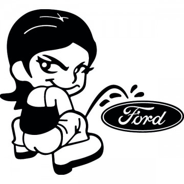 Bad girl fait pipi sur Ford