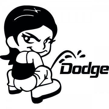 Bad girl pee on Dodge