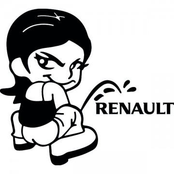 Bad girl fait pipi sur Renault