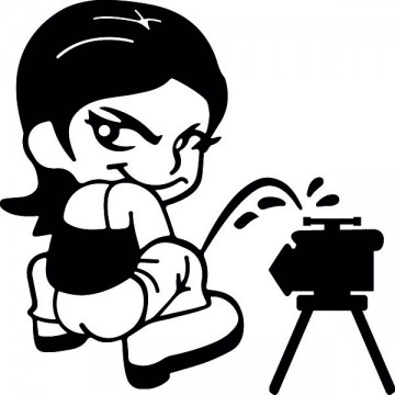 Bad girl pee on Radar