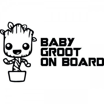 Baby Groot On Board...