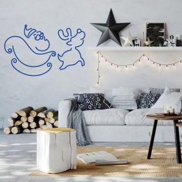 Santa, Sled & Reindeer