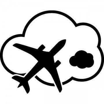 Slhouette Avion Nuage
