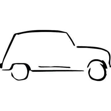 Silhouette Renault 4L